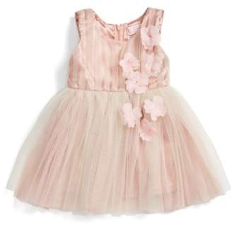 Popatu Sleeveless Rosette Tulle Dress