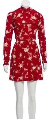 Reformation Long Sleeve Floral Print Dress