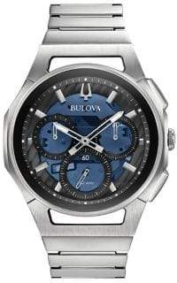 Bulova Curv Stainless Steel Chronograph Watch