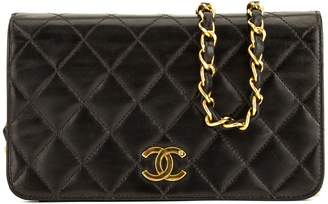 Chanel Black Quilted Lambskin Chain Clutch (4001003)