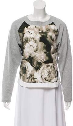 No.21 No. 21 Lace-Trimmed Floral Print Sweatshirt