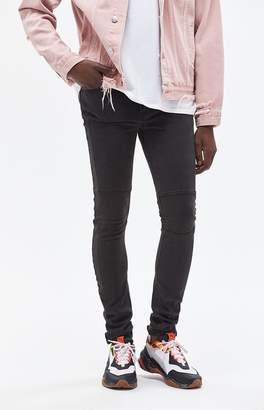 PacSun Stacked Skinny Ergo Moto Black Jeans