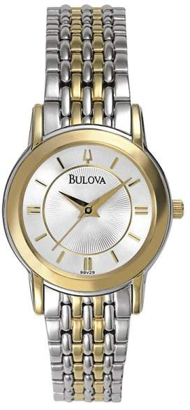 Bulova Bulova 98V29 Two-Tone Stainless Steel Quartz 27mm Womens Watch