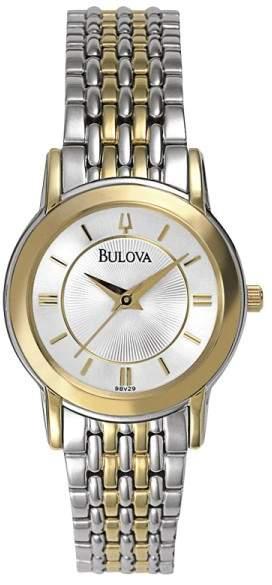 BulovaBulova 98V29 Two-Tone Stainless Steel Quartz 27mm Womens Watch