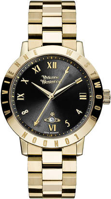 Vivienne Westwood VV152BKGD gold-plated stainless steel watch