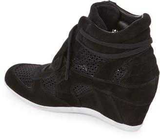 Ash Black Bowie Suede & Mesh Wedge Sneakers