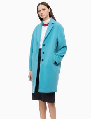 Calvin Klein oversized wool blend coat