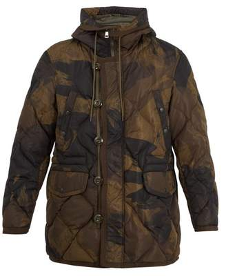 Moncler - Gaillon Camouflage Print Quilted Down Parka - Mens - Camouflage