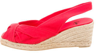 Castaner Canvas Slingback Wedges $65 thestylecure.com