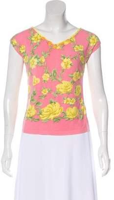 Blumarine Embellished Short Sleeve Top