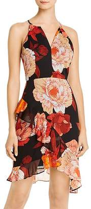 GUESS Kersten Ruffled Floral Sheath Dress