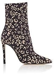 Altuzarra Women's Cady Leopard-Print Ankle Boots - Black