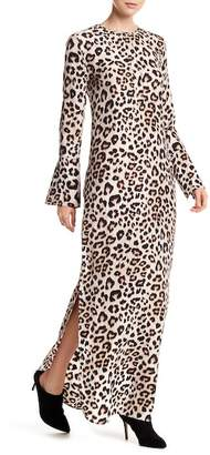 Equipment Niko Leopard Silk Maxi Dress