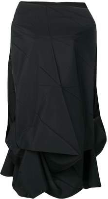 Issey Miyake deconstructed geometric short dress