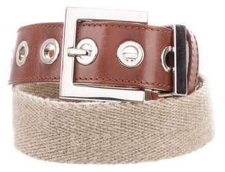 Dolce & Gabbana Woven-Leather Buckle Belt