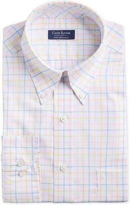 Club Room Men Classic/Regular Fit Stretch Tattersall Dress Shirt