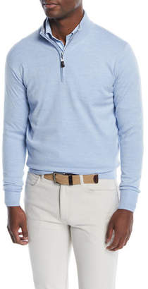 Peter Millar Men's Crown Soft Half-Zip Wool/Silk Sweater