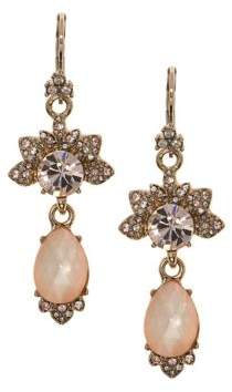 Marchesa Crystal Faceted Double Drop Earrings