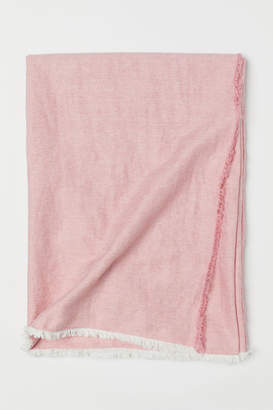 H&M Linen-blend Bedspread - Pink