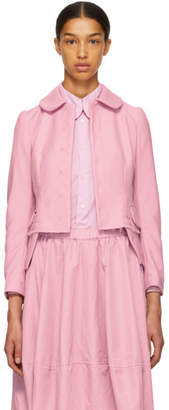 Comme des Garcons Pink Round Collar Jacket