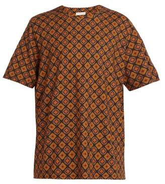 Etro Patterned Cotton T Shirt - Mens - Brown Multi