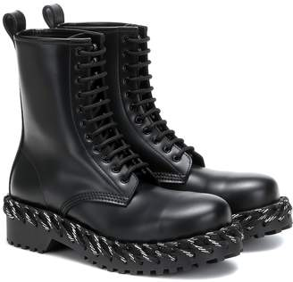 Balenciaga Laces leather ankle boots