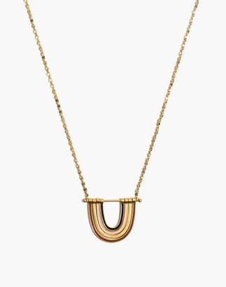 Madewell Enamel Rainbow Necklace