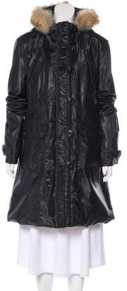 Andrew Marc Hooded Long Coat w/ Tags