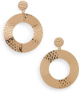 Panacea Hammered Circle Earrings