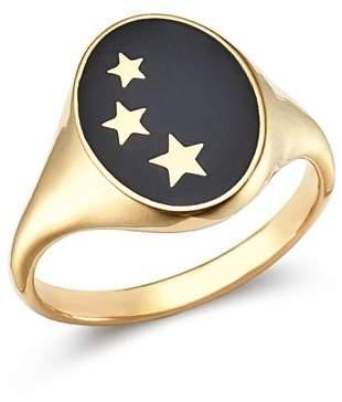 SUEL 14K Yellow Gold Constellation Signet Ring