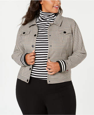 Tommy Hilfiger Plus Size Plaid Jacket