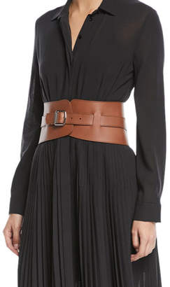 Loro Piana Adjustable Leather Corset Belt