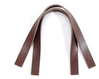 "byhands 14.5"" Natural Raw Hide Leather Purse Handles/Bag Strap, Brown (24-3702)"