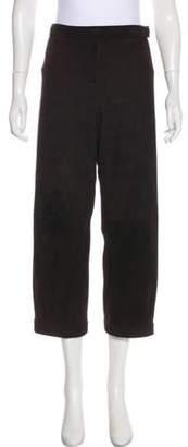Oscar de la Renta High-Rise Suede Pants Brown High-Rise Suede Pants