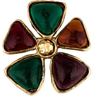 ChanelChanel Gripoix Floral Brooch