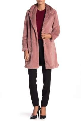 Sebby Faux Fur Notch Collar Jacket
