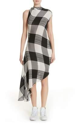 Marques Almeida Marques'Almeida Asymmetrical Gingham Sheath Dress