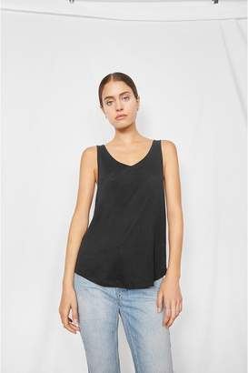 Anine Bing Linen Tank Top - Black