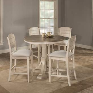 Hillsdale Furniture Clarion Five (5) Piece Round Counter Height Dining Set with Open Back Stools