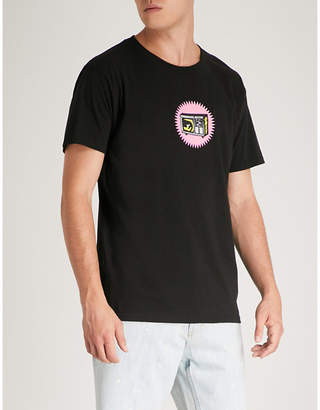 Obey Broadcast cotton-jersey T-shirt