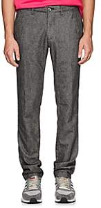 Barneys New York Men's Torino Cotton Slim Trousers - Gray