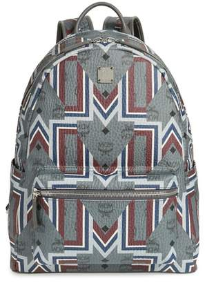 MCM Stark Gunta Print Faux Leather Backpack