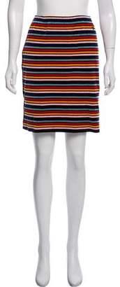 Sonia Rykiel Striped Velvet Skirt
