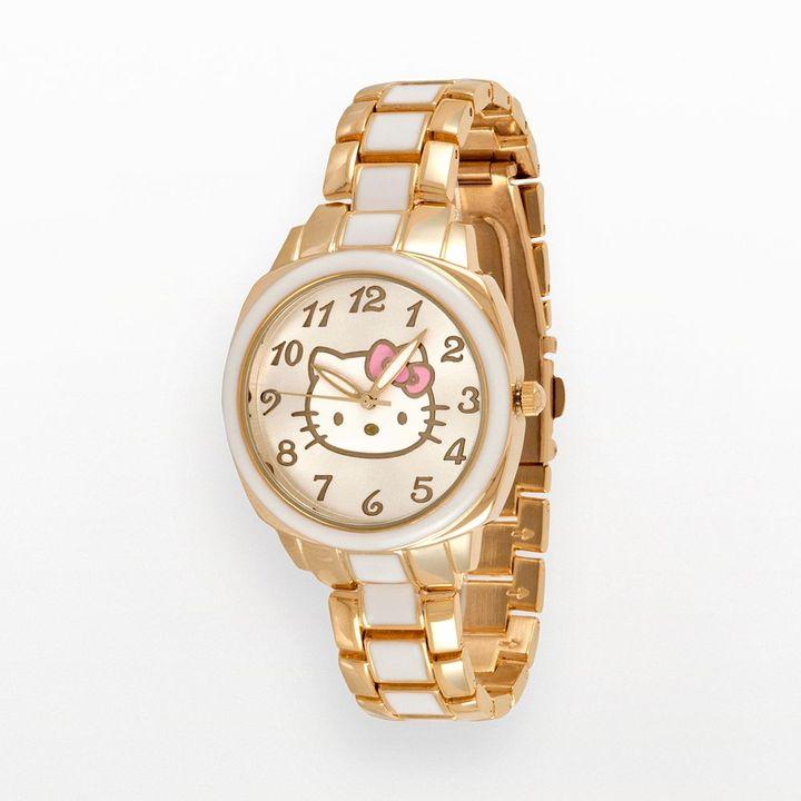 Hello Kitty gold tone watch - women