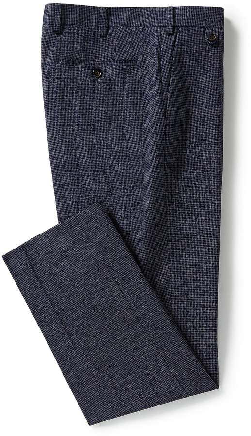 Murano Alex Slim-Fit Flat-Front Houndstooth Pants