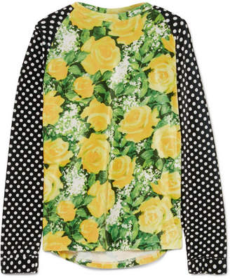 Richard Quinn Patchwork Printed Velvet Top - Yellow