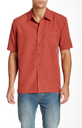Quiksilver Centinela Textured Short Sleeve Shirt $59.50 thestylecure.com