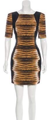 Haute Hippie Silk Animal Print Dress
