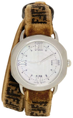 Fendi Brown Forever Selleria Set Watch