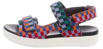 Tory Sport Geometric Pattern Flatform Sandal